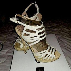 Aldo Brand New/Never Worn White Strappy Heels